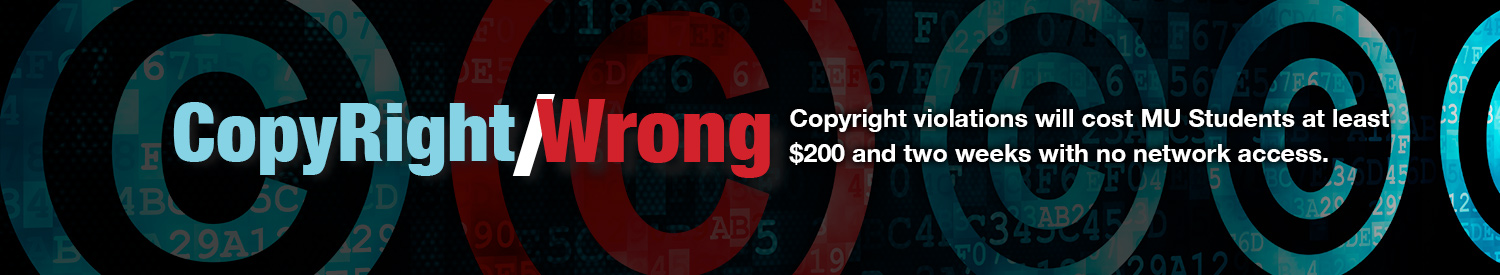 Copyright violations will cost MU students at least $200 and two weeks with no network access.